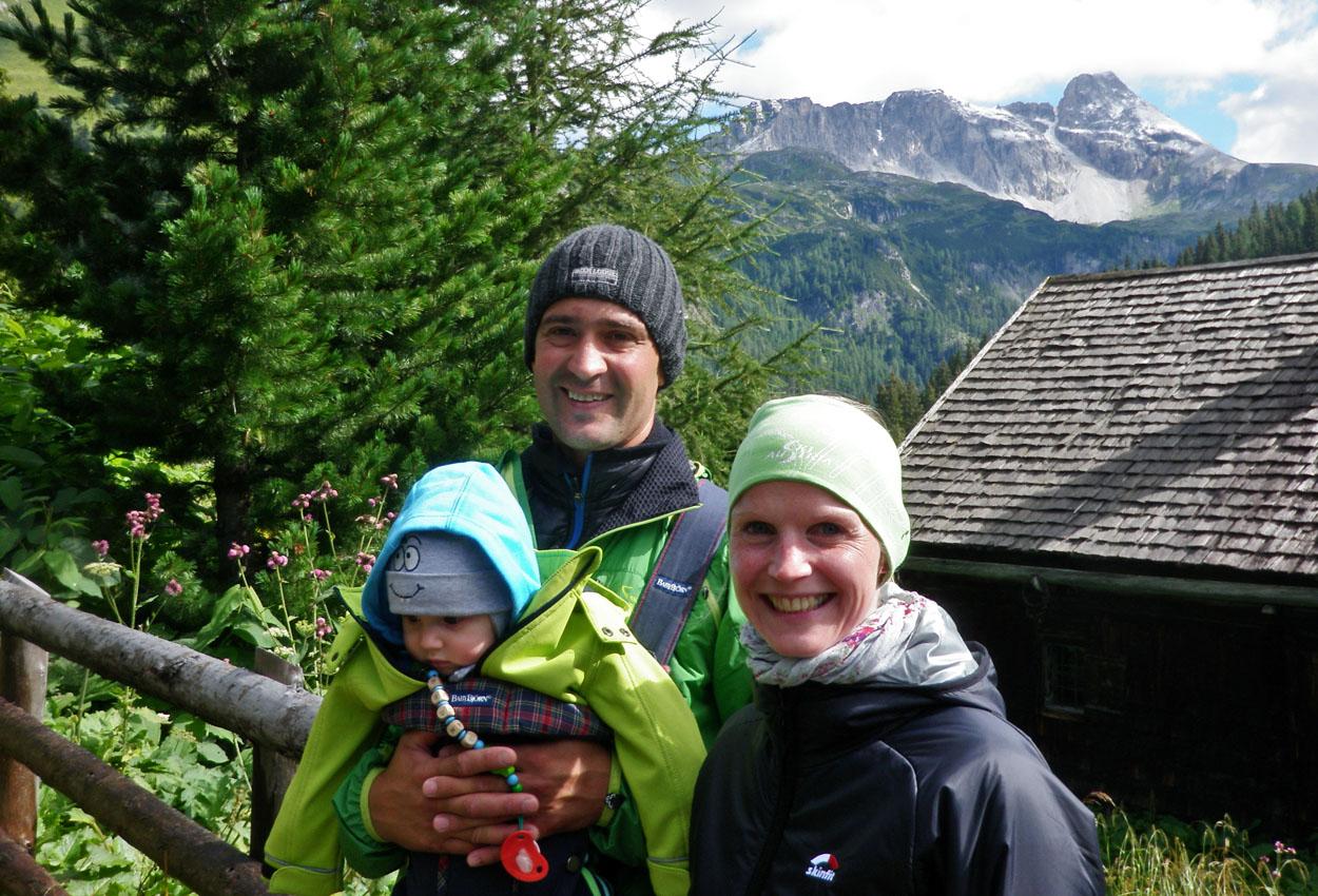 Familie Urlaub Berge Österreich